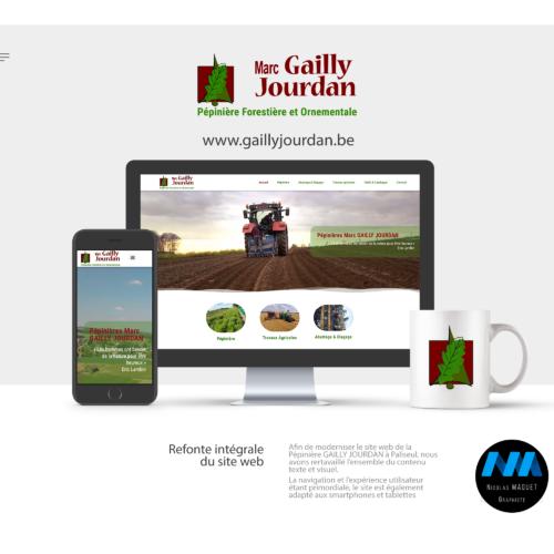 Site web pépinière Gailly Jourdan